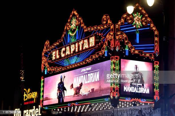"""General view of atmosphere at the premiere of Lucasfilm's first-ever, live-action series, """"The Mandalorian,"""" at the El Capitan Theatre in Hollywood,..."""