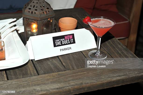General view of atmosphere at the premiere of The Weinstein Company's I Don't Know How She Does It after party sponsored by QVC Palladium Jewelry at...