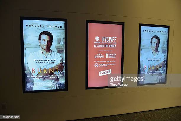A general view of atmosphere at the Private Screening Of BURNT QA Panel And Reception With Bradley Cooper And Sienna Miller during Food Network...