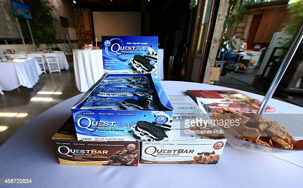 A general view of atmosphere at the Quest Nutrition 'Beyond The Bar' Protein Powder Release Celebration at Smogshoppe on November 9 2014 in Los...