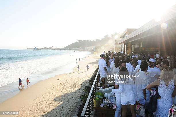 A general view of atmosphere at the 'Red White And Bootsy' Bootsy Bellows Pop Up At Nobu Malibu on July 4 2015 in Malibu California