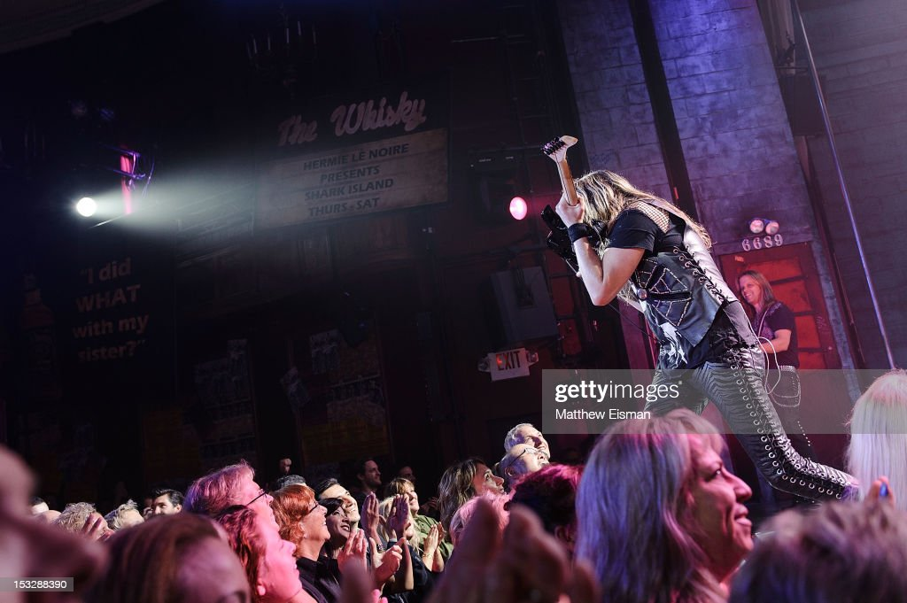 A general view of atmosphere at the 'Rock Of Ages' on Broadway Military Tribute Night at Helen Hayes Theatre on October 2, 2012 in New York City.