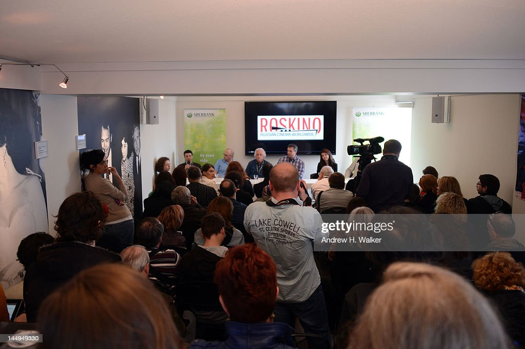 A general view of atmosphere at the Russian Film Panel during the 65th Annual Cannes Film Festival at the Russian Pavillion on May 21, 2012 in Cannes, France.