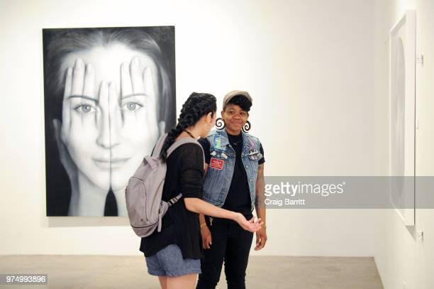 A general view of atmosphere at the Tigran Tsitoghdzyan Uncanny show at Allouche Gallery on June 14 2018 in New York City