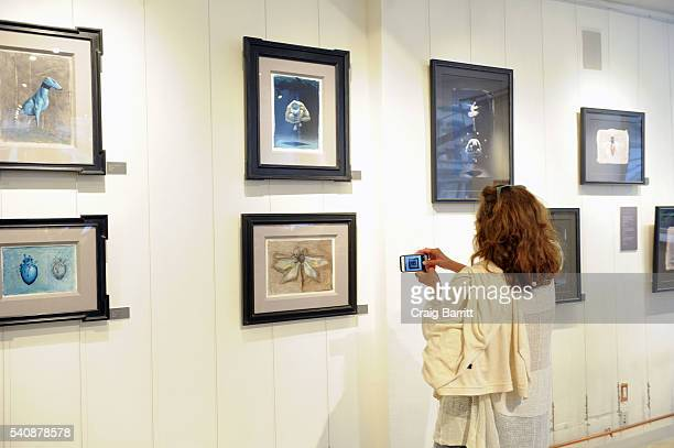 General view of atmosphere at the Tim Cantor art show at AFA Gallery on June 16 2016 in New York City