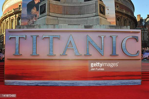 A general view of atmosphere at the 'Titanic 3D' world premiere at the Royal Albert Hall on March 27 2012 in London England