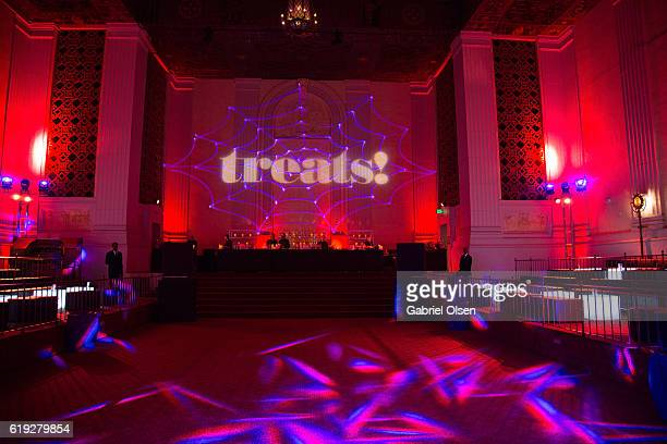 A general view of atmosphere at the Trick or treats The 6th Annual treats Magazine Halloween Party Sponsored by Absolut Elyx on October 29 2016 in...