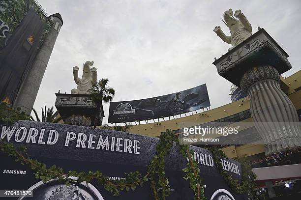 A general view of atmosphere at the Universal Pictures' Jurassic World premiere at Dolby Theatre on June 9 2015 in Hollywood California