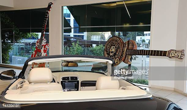 A general view of atmosphere at the unveiling of the 2012 Gibson Guitartown new round of guitars on The Sunset Strip at Hornburg Jaguar on March 12...