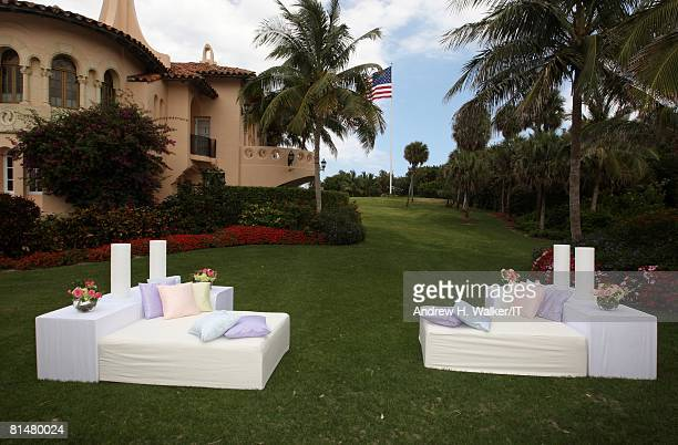 RATES General view of atmosphere at the wedding of Ivana Trump and Rossano Rubicondi at the MaraLago Club on April 12 2008 in Palm Beach Florida