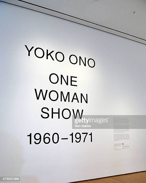 General view of atmosphere at the Yoko Ono: One Woman Show, 1960-1971 at Museum of Modern Art on May 12, 2015 in New York City.