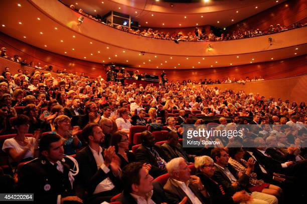 A general view of atmosphere at Theatre d'Angouleme during the 7th Angouleme FrenchSpeaking Film Festival Award Ceremony in Angouleme France