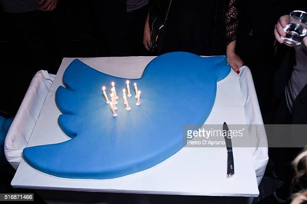 General view of atmosphere at Twitter's 10th Anniversary party on March 21 2016 in Milan Italy