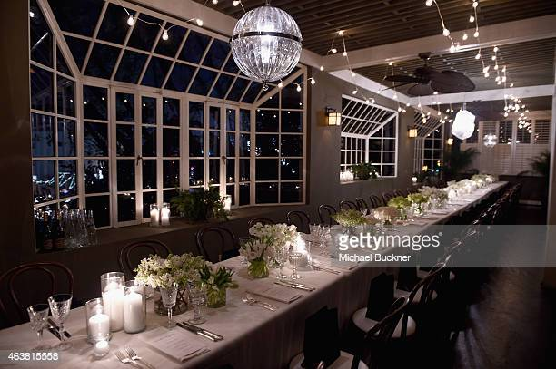 A general view of atmosphere at VANITY FAIR and Barneys New York Dinner benefiting OXFAM hosted by Rooney Mara at Chateau Marmont on February 18 2015...