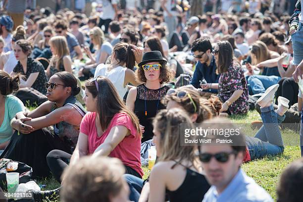 General view of atmosphere at We Love Green Festival at Parc de Bagatelle on May 31 2014 in Paris France