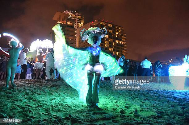 A general view of atmosphere at White Cube Gallery Soho Beach House Celebrate Art Basel Miami 2014 Hosted By Jay Jopling Nick Jones on December 2...