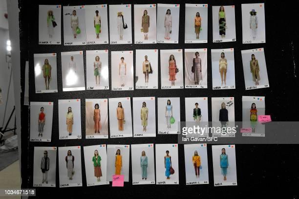 A general view of atmosphere backstage ahead of the REJINA PYO ** show during London Fashion Week September 2018 at Centre Point on September 17 2018...