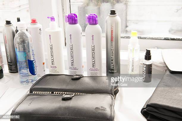 General view of atmosphere backstage at the Darkoh fashion show during MercedesBenz Fashion Week Fall 2015 at The Designer's Loft on February 12 2015...
