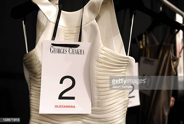A general view of atmosphere backstage at the Edition by Georges Chakra Spring 2011 fashion show during MercedesBenz Fashion Week at The Stage at...