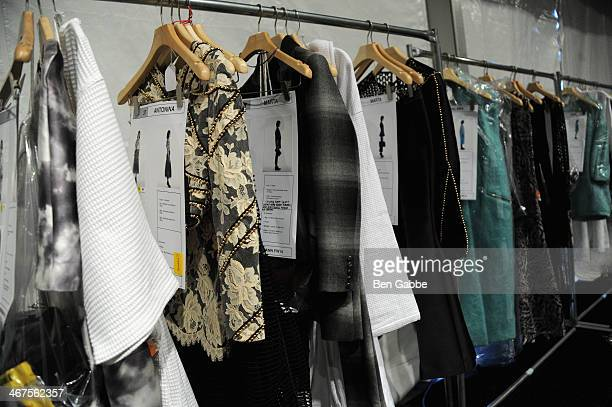 A general view of atmosphere backstage at Zimmermann fashion show during MercedesBenz Fashion Week Fall 2014 at The Pavilion at Lincoln Center on...
