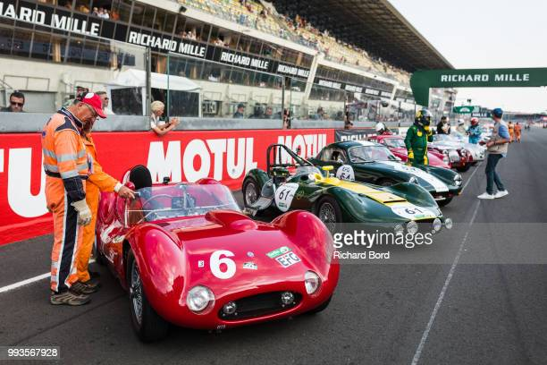 A general view of atmosphere before the Grid 3 race 1 at Le Mans Classic 2018 on July 7 2018 in Le Mans France
