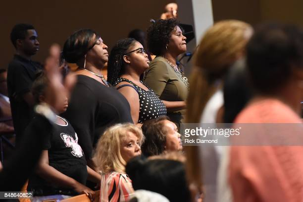 A general view of atmosphere crowd during an Evening with Richard Smallwood and Yolanda Adams benefiting The National Museum Of African American...