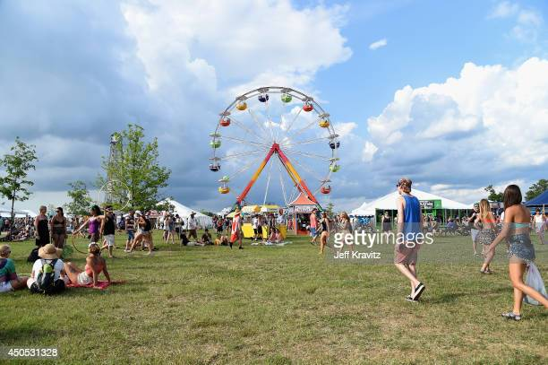 A general view of atmosphere day 1 of the 2014 Bonnaroo Arts And Music Festival on June 12 2014 in Manchester Tennessee