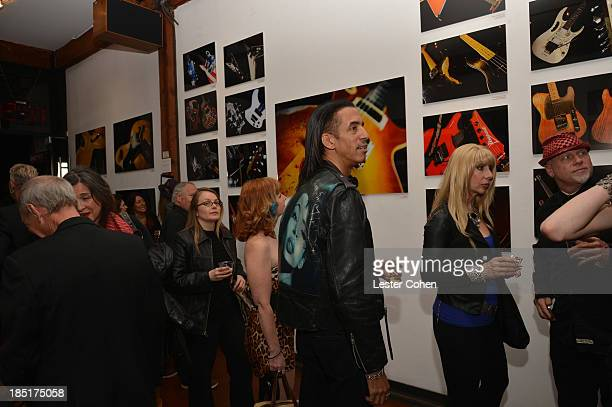 A general view of atmosphere during '108 Rock Star Guitars' book release at Mr Musichead Gallery on October 17 2013 in Los Angeles California