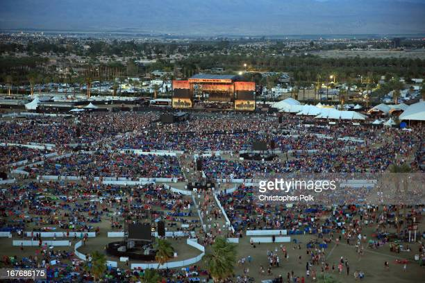 A general view of atmosphere during 2013 Stagecoach California's Country Music Festival held at The Empire Polo Club on April 27 2013 in Indio...