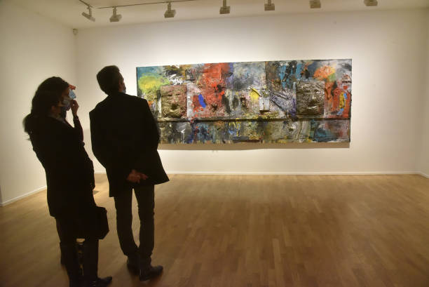 "FRA: ""A Day Longer"" - Jim Dine Exhibition At Galerie Templon"