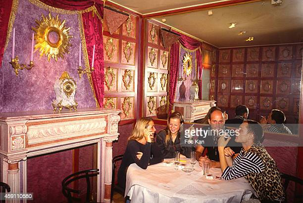 PARIS FRANCE A general view of atmosphere during a fashion week Party at Les Bains Douches in the 1990s in Paris France