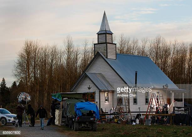 A general view of atmosphere during a visit to the set of Hallmark's 'When Calls the Heart' Season 4 at Jamestown on December 8 2016 in Langley Canada