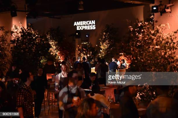 A general view of atmosphere during American Express x Justin Timberlake 'Man Of The Woods' listening session at Skylight Clarkson Sq on January 17...