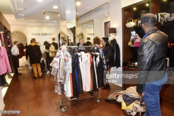 """General view of atmosphere during Anne Kervall Ready to wear """"De Luxe"""" Spring/Summer 2021/2022 Fashion Show Hosted by Anne Kervall and Holly Hood..."""
