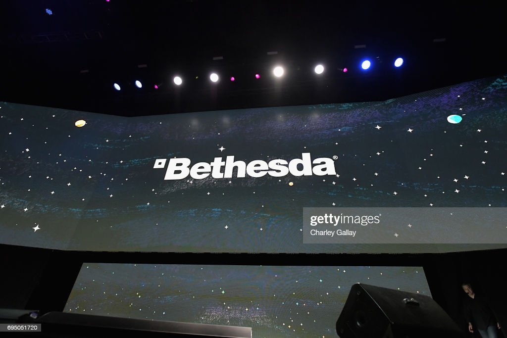 A general view of atmosphere during Bethesda Softworks shows off new video game experiences at its E3 Showcase and Bethesdaland event at the Los Angeles Center Studios ahead of the Electronic Entertainment Expo (E3) happening at the Los Angeles Convention Center from June 13-15, 2017, on June 11, 2017 in Los Angeles, California.
