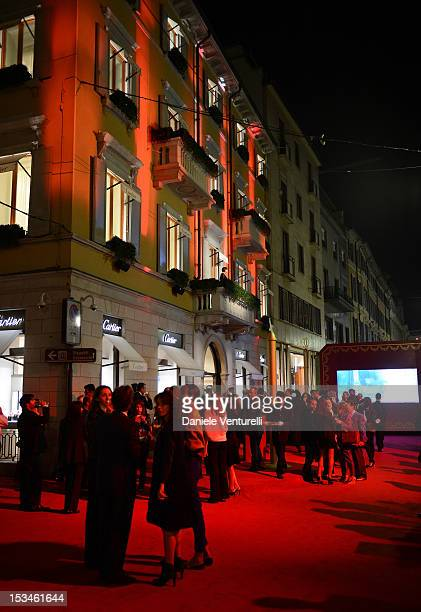 A general view of atmosphere during Cartier Boutique reopening cocktail party on October 5 2012 in Milan Italy