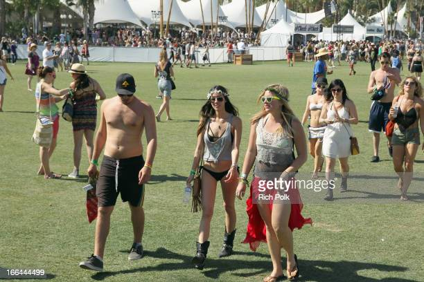 A general view of atmosphere during day 1 of the 2013 Coachella Valley Music Arts Festival at the Empire Polo Club on April 12 2013 in Indio...