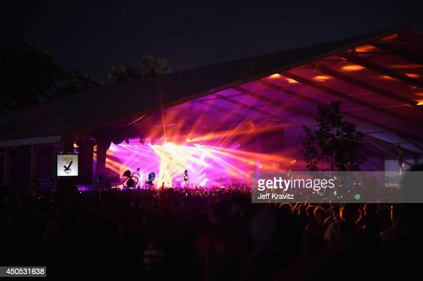 A general view of atmosphere during day 1 of the 2014 Bonnaroo Arts And Music Festival on June 12 2014 in Manchester Tennessee