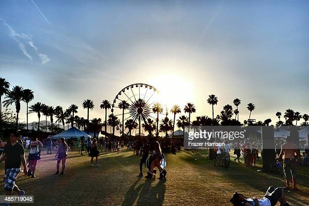 A general view of atmosphere during day 2 of the 2014 Coachella Valley Music Arts Festival at the Empire Polo Club on April 19 2014 in Indio...