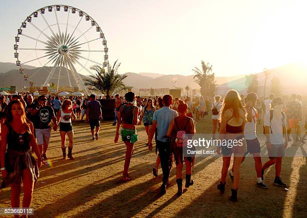 A general view of atmosphere during day 2 of the 2016 Coachella Valley Music Arts Festival Weekend 2 at the Empire Polo Club on April 23 2016 in...