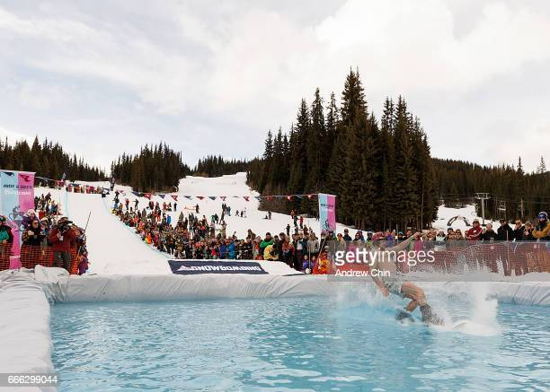 A general view of atmosphere during Day 3 of Coors Light Snowbombing Canada at Sun Peaks Resort on April 8 2017 in Sun Peaks Canada