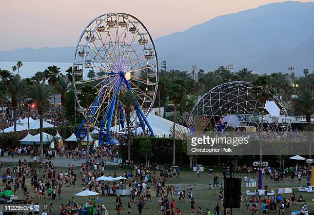A general view of atmosphere during Day 3 of the Coachella Valley Music Arts Festival 2011 held at the Empire Polo Club on April 17 2011 in Indio...