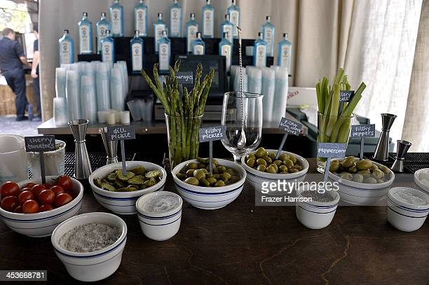 A general view of atmosphere during day two of Art Basel at Soho Beach House on December 4 2013 in Miami Beach Florida