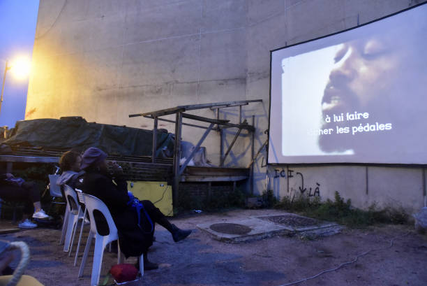 """FRA: """"Eldridge Cleaver, Black Panther """" By William Klein Outdoor Screening Party at Shakirail"""