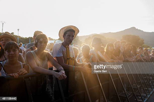 General view of atmosphere during FIB Benicassim Festival on July 17 2015 in Benicasim Spain