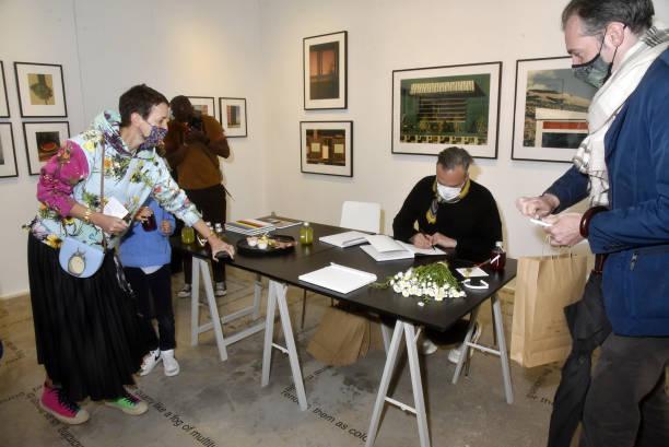 "FRA: ""Just An Idea"" Louis-Geraud Castor Book Signing  At Librairie Galerie Yvon Lambert"