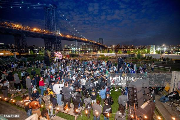 A general view of atmosphere during Kanye West #PROJECTWYOMING Brooklyn Listening Party on June 7 2018 in the Brooklyn borough of New York City