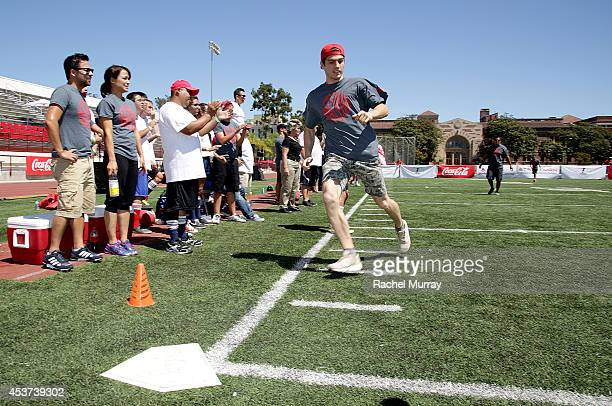 A general view of atmosphere during Kickball For A Home Celebrity Challenge presented by Dave Thomas Foundation For Adoption at USC on August 16 2014...
