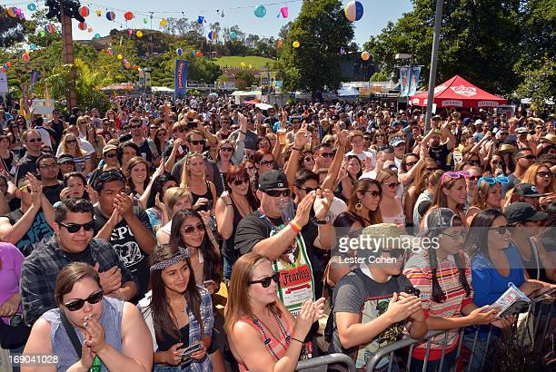 A general view of atmosphere during KROQ Weenie Roast Y Fiesta at Verizon Wireless Amphitheater on May 18 2013 in Irvine California