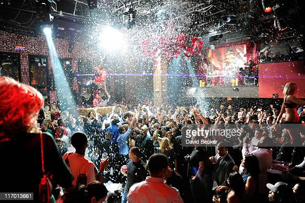A general view of atmosphere during La La Anthony's birthday celebration at the Tao Nightclub at the Venetian Resort Hotel Casino on June 18 2011 in...